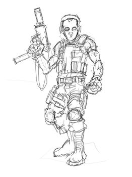 Wip Gif Concept Char by DamienSaelak