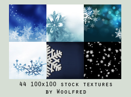 Icon textures - snowflakes by Woolfres