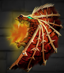 Shield of the Red Dragon by Aileara