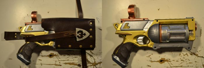 steampunk nerf maverick in and out holster by stevo934