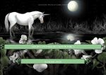 Moonflowers and Unicorn by LeeAnneKortus