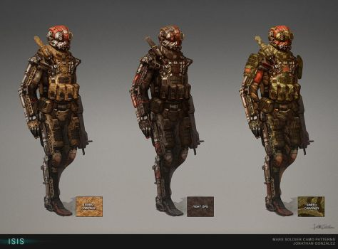 ISIS - Mars Soldier Camo Patterns by BrotherOstavia