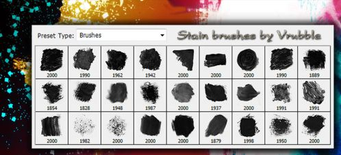 A set of stain brushes for Photoshop. by SmediaDesign