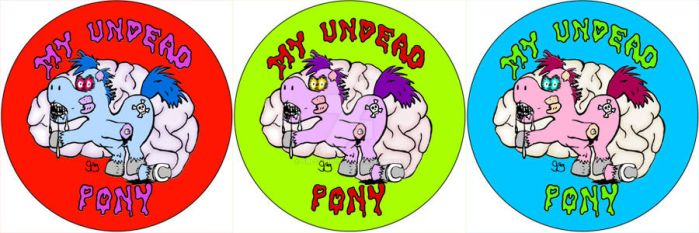My Undead Pony Button Designs by GregoriusU