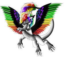 Flying RainbowDragon by DarkRainbowDragon