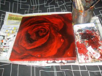 oil painting of rose by pure1morning1scream