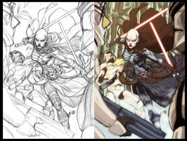 Asajj Ventress sketch by diablo2003