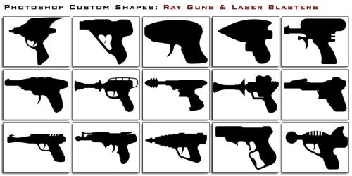 Ray Guns and Laser Blasters by thesuper