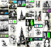 Ink Art Photoshop Action by GraphicAssets