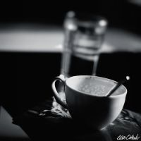 Empty Cup And Full Glass by venicequeenf