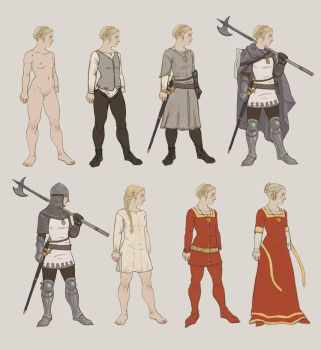 Turid paperdoll (with nudity) by Bergholtz