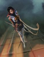 Sharp blade, sharp mind (Fiora) by nfouque