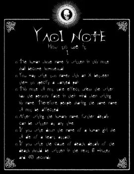 DN - Yaoi Note by Taymeho