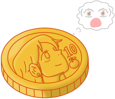 Commission: Nami the Coin by P1nkApple