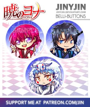 Akatsuki no Yona Button set by jinyjin
