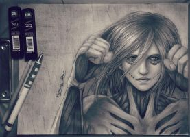 Annie Leonhart / attack on titan by Hzaherart