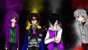 Barney, Sky, Jin, and Ross by MidnightDash2137