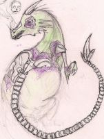 Undead dragon sketch by SpiderCoffee