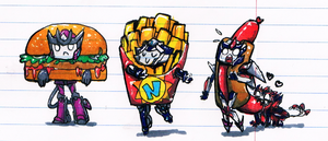 The Fast Food Derpys by No-pe