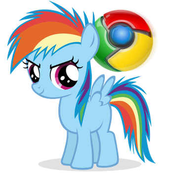 Pony Google Chrome icon (RBD) by Nerve-Gas
