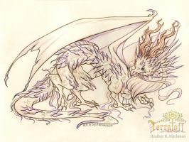 Smaugust 2017 #7 Venomous Crystal Dragon by HeatherHitchman