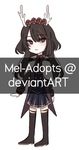 (CLOSED) Auction Adopt #32 by Mel-Adopts