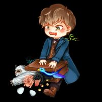 Newt:Fantastic Beasts by SaiParnn