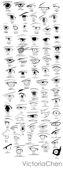 Anime Eye Sketch/Poster Project by VictoriaChen