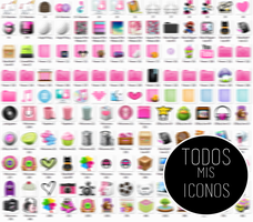 Todos mis iconos :B by Fraancee