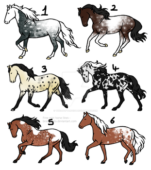 15 - 20 point horse adopts [1/6] -OPEN- by TheAdoptArtist
