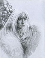Snow elf by DalfaArt