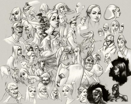 Super sketch page by bolognafingers