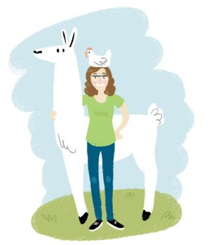 Self Portrait with Llama by Karwei