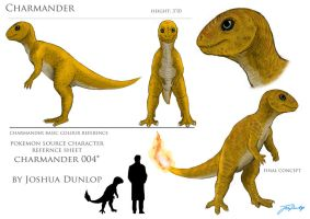 Charmander reference sheet by JoshuaDunlop