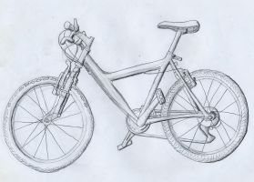 Life drawing of my bicycle by dracontes