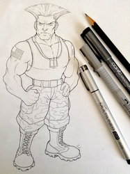 Colonel Guile by WhiteKimahri