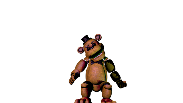 Seated Golden Freddy by Amirbelal