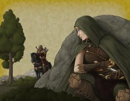 Sneaking Elven Scout by quellion