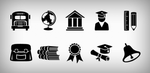 Education Icons Set (PSD) by softarea