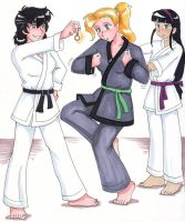 Kylie's hypnotic karate lesson by Sue Chan by neowhyachi