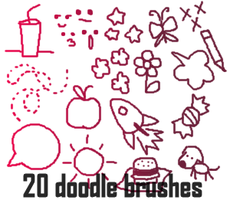 Doodle Brushes Set 3 by alliemon