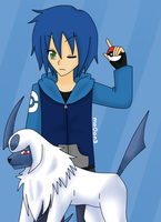 Jun and absol by mo0on3