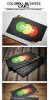 Free Colorful Business Card by psdtemplates
