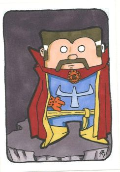 Dr. Strange sketchcard by houseofduck