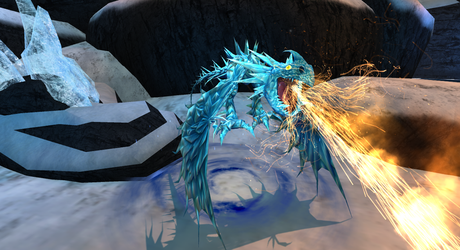 The Fire of the Titan Ice Nadder by WhispertheWolfie