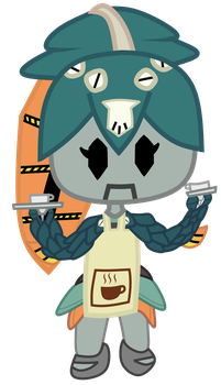 Chibi Robo-Minette Coloured by Subscriber01236