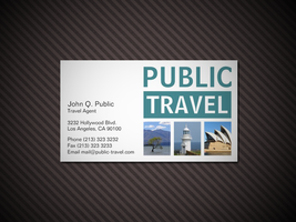 Travel Agency Business Card by es32