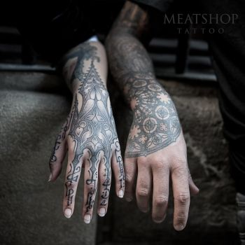 Peter Blackhand nomad and Lahhel collab by Meatshop-Tattoo