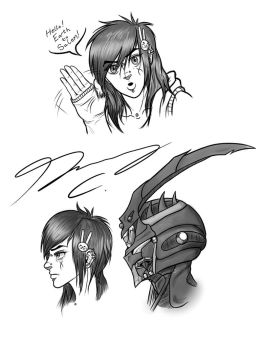 Cryptic Guyver Sketches WIP by Guyver89
