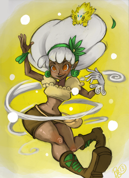 Fluffee the Whimsicott by blueyoshimenace